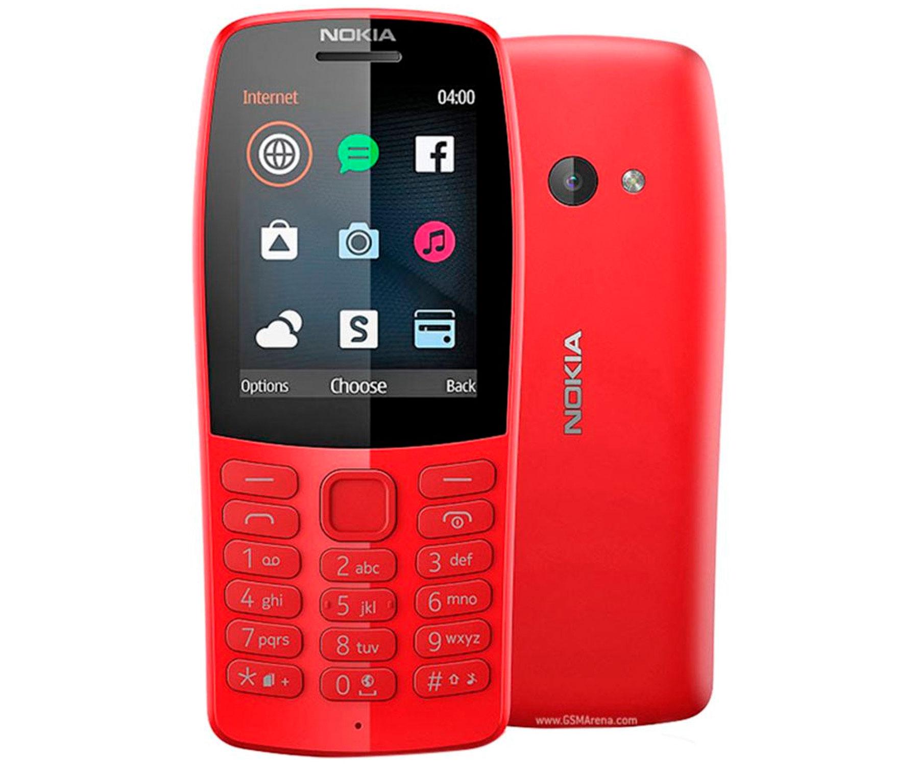 Móvil sencillo Nokia 210 rojo