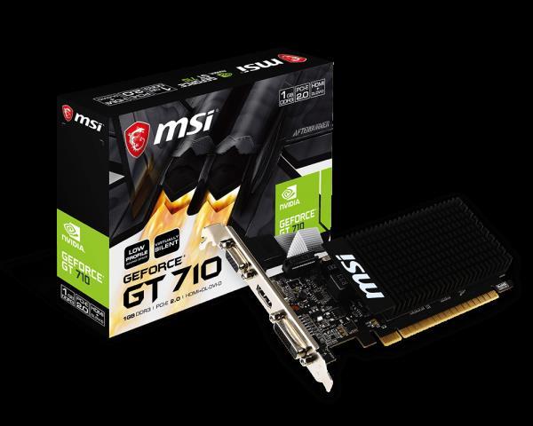 VGA GT 710 1GB GDDR3 MSI VGA -DVI-HDMI