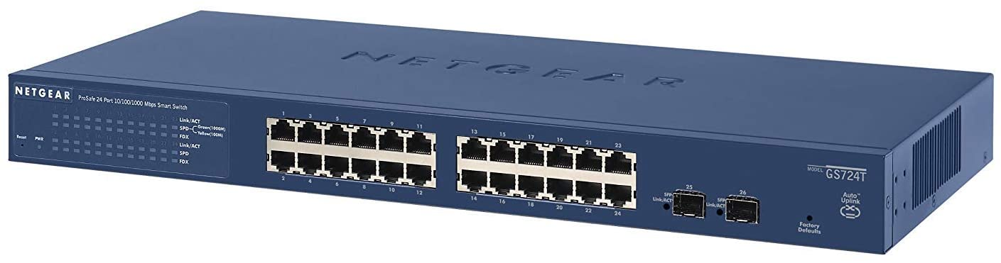 SWITCH 24 P.GIGABIT Gest..L2 RACK NETGEAR