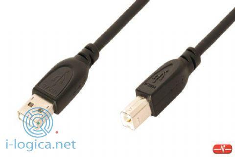 Cable de Conexión USB2.0 Tipo A-B 1,8m.