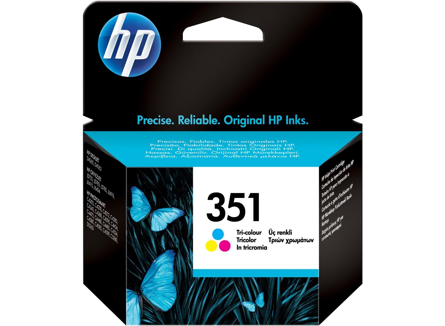 351 Cartucho de tinta Tricolor HP (170pag.)