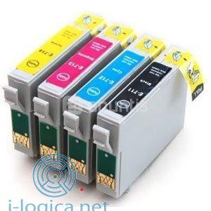 T0712 Cartucho de tinta Cian Epson (Compatible)Iberjet