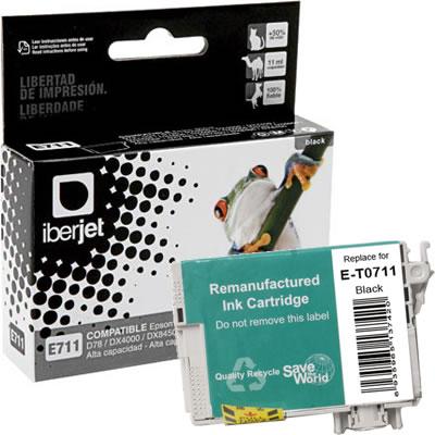 T0711 Cartucho de tinta negro Epson Compatible Iberjet