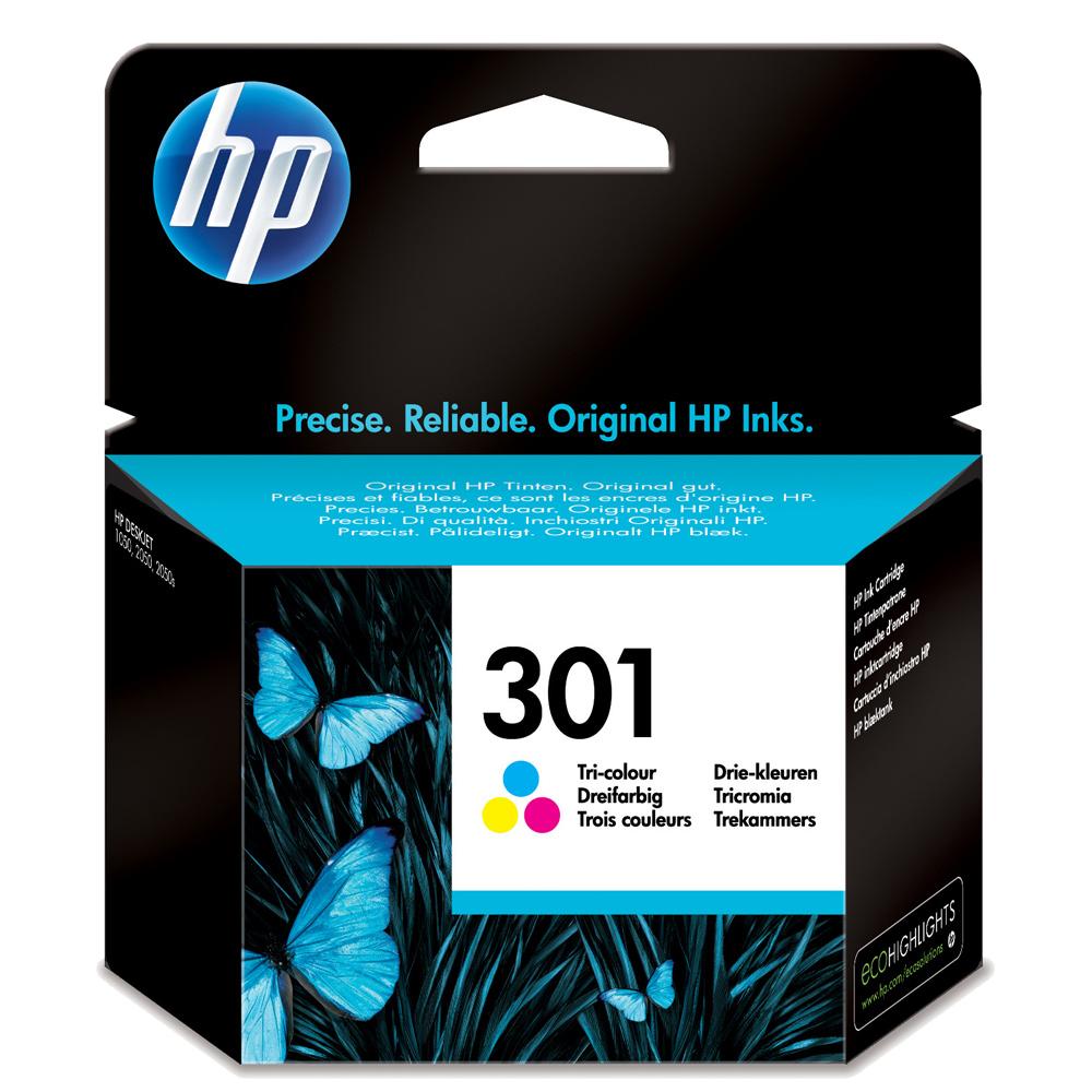 301 Cartucho de tinta color HP (165 pag.)