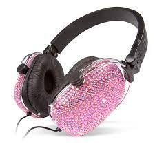 Auriculares diamante Rosa
