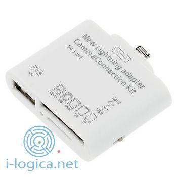 Lector tarjetas + USB PARA ipad, iphone aprox