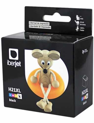 21XL Cartucho de Tinta Negra HP (compatible Iberjet)