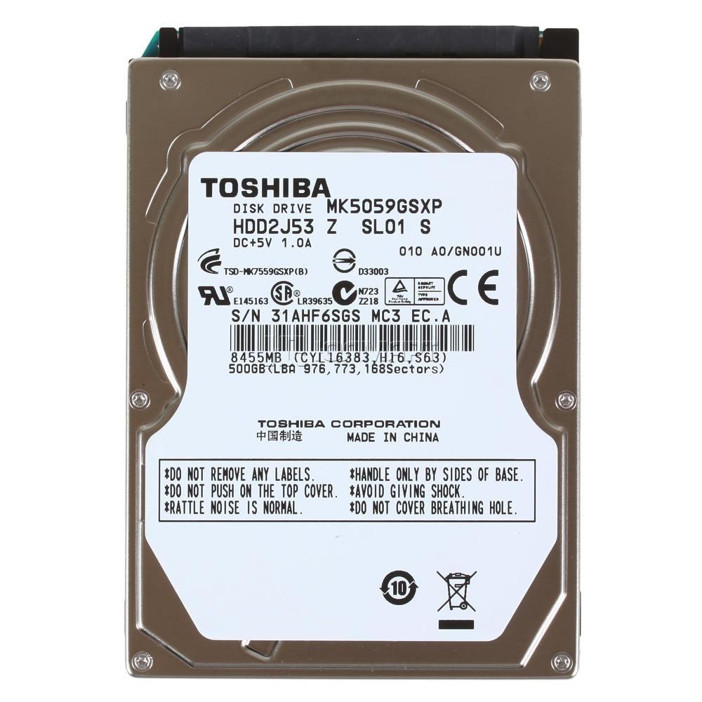 500GB Disco duro 2,5 S-ATA Toshiba