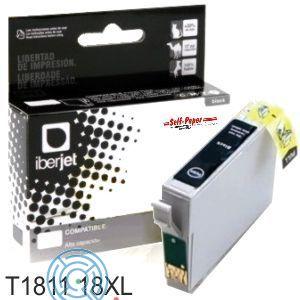 E1811/E1801/18XL Cartucho de tinta negro Epson (Compatible Iberjet)
