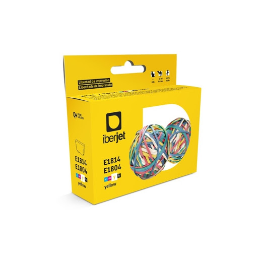E1814/E1804 Cartucho de tinta amarilla Epson (compatible Iberjet)