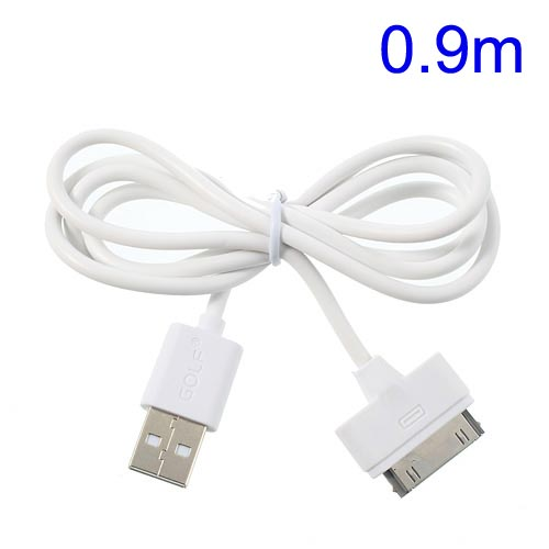 Cable USB a iPhone 4 / 4s / iPad 2 / iPod touch 4 / iPod nano 6 blanco