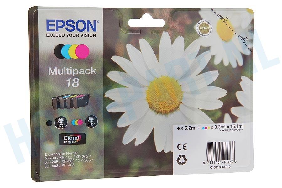 T1806/18 Pack cartuchos tinta Cian Magenta Amarillo y Negro Epson