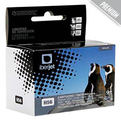 56 Cartucho tinta negro HP compatible Iberjet