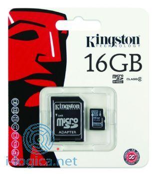 16GB Memoria micro SD Kingstone con adaptador a SD (incluye Canon digital 0,29 €)