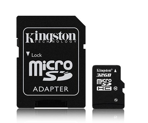 32GB Memoria micro SD con adaptador a SD Kingston <br>(incluye Canon digital 0,29€)