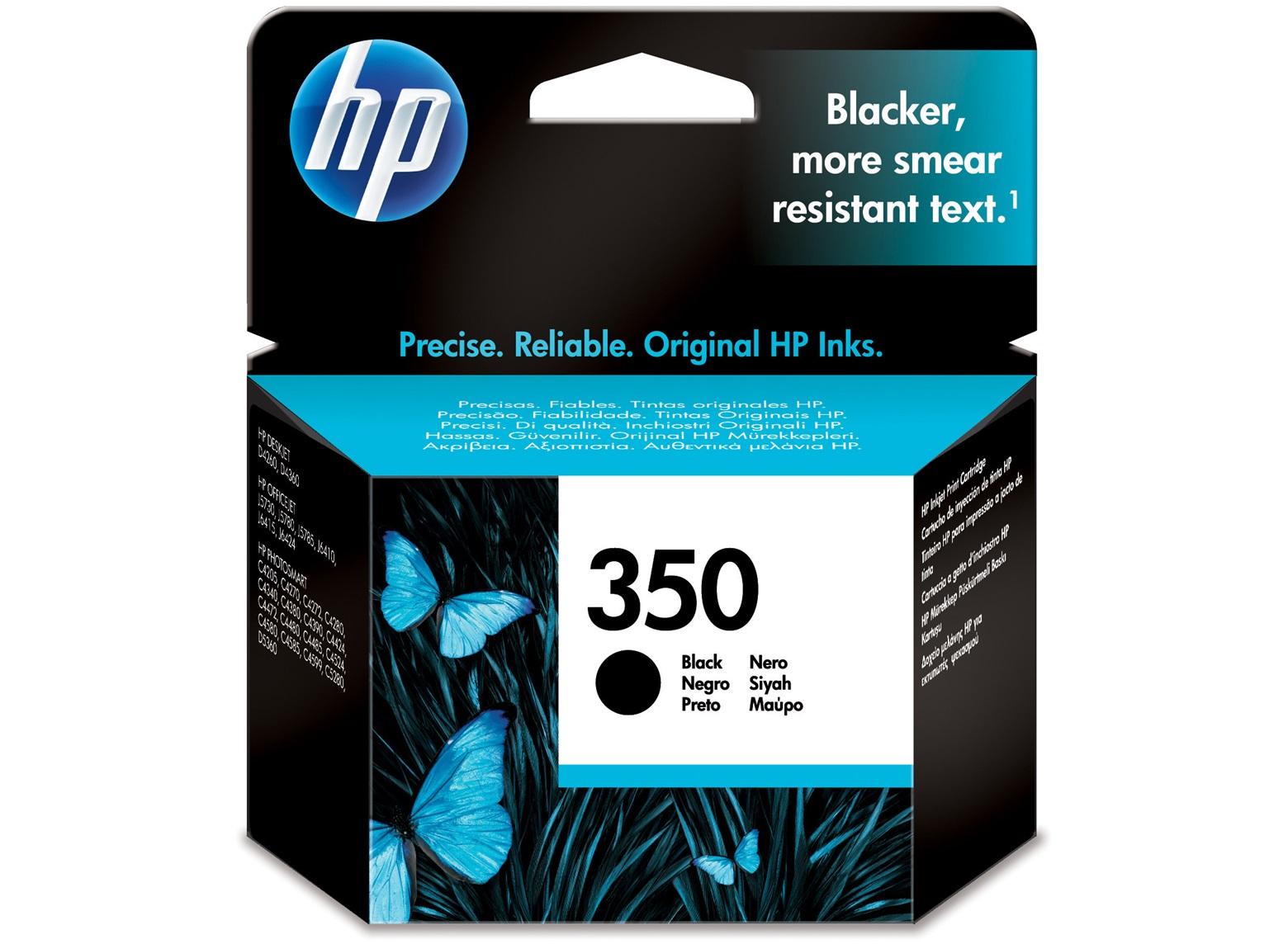 350 Cartucho de tinta negra HP (200pg)