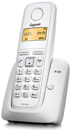 A120 Teléfono inalámbrico blanco Gigaset