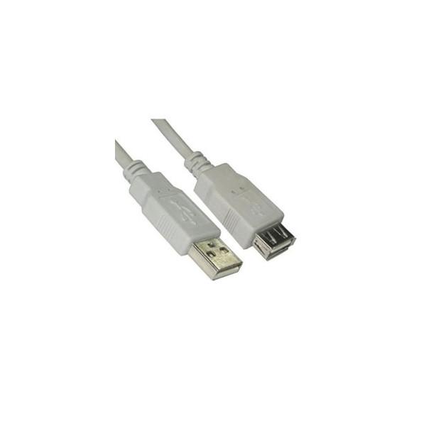 Cable alargador USB A/Macho a A/Hembra 1,8m. NanoCable