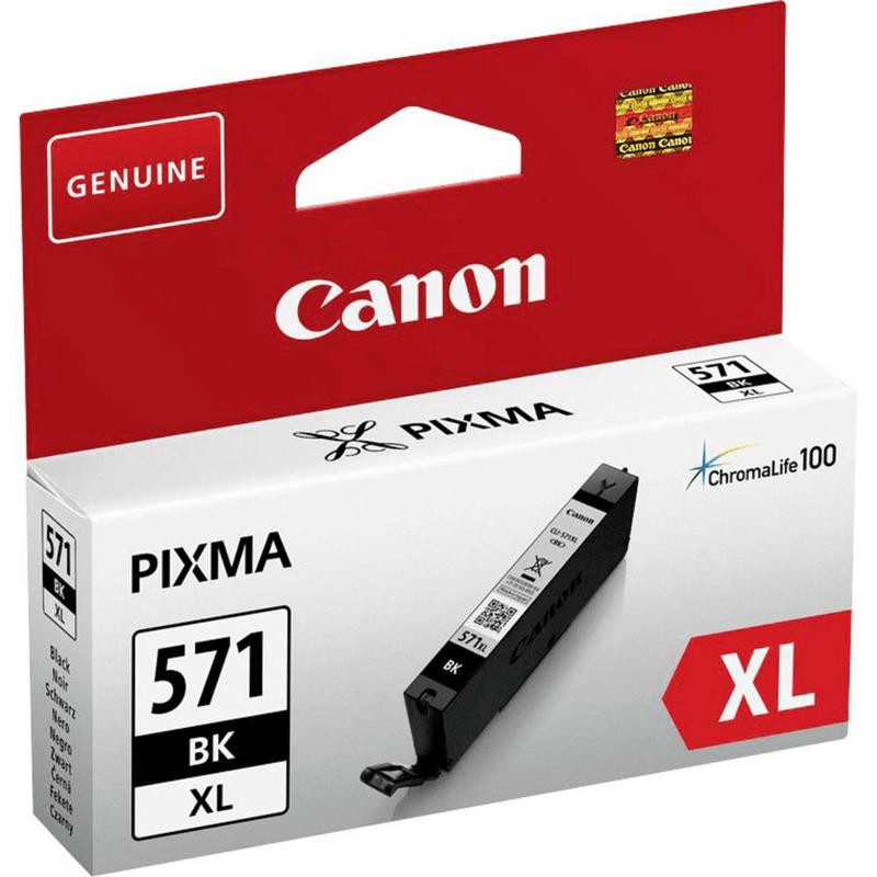 CLI-571XL Cartucho de tinta negra BK Canon 10,8ml.