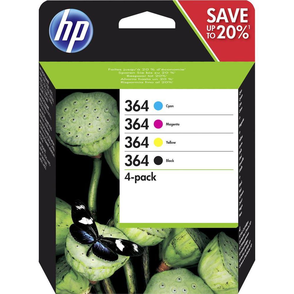 364 pack 4 cartuchos de tinta  Negro, Cian, Magenta y Amarillo HP