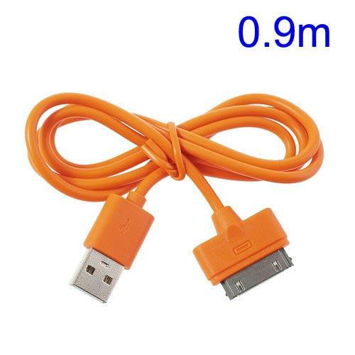 Cable Datos y carga USB para iPhone 4 Naranja