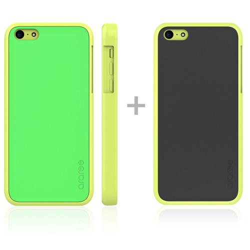 Carcasa amy Iphone 5c Amarilla/Verde Araree