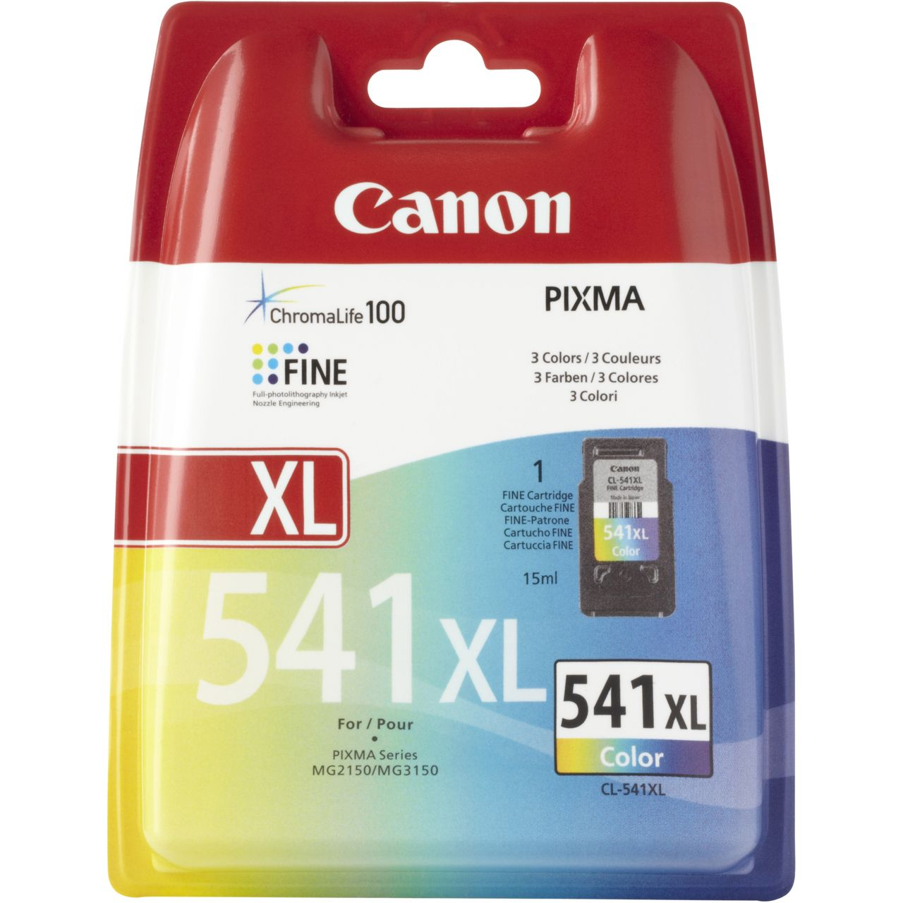 CL-541XL Cartucho de tinta tricolor Canon (15ml.)