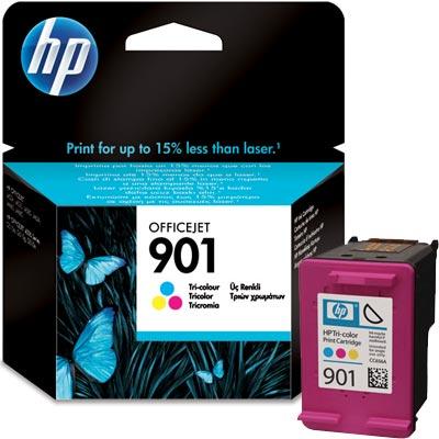 901 Cartucho de tinta Tricolor HP (360 pag.)