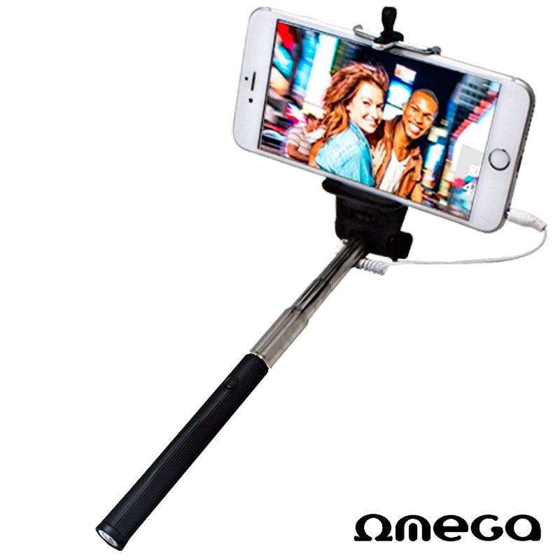 Soporte Extensible Monopod Selfie Universal Cable Omega Negro