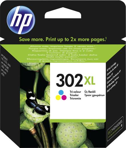 302XL Cartucho de tinta tricolor HP (330pag.)