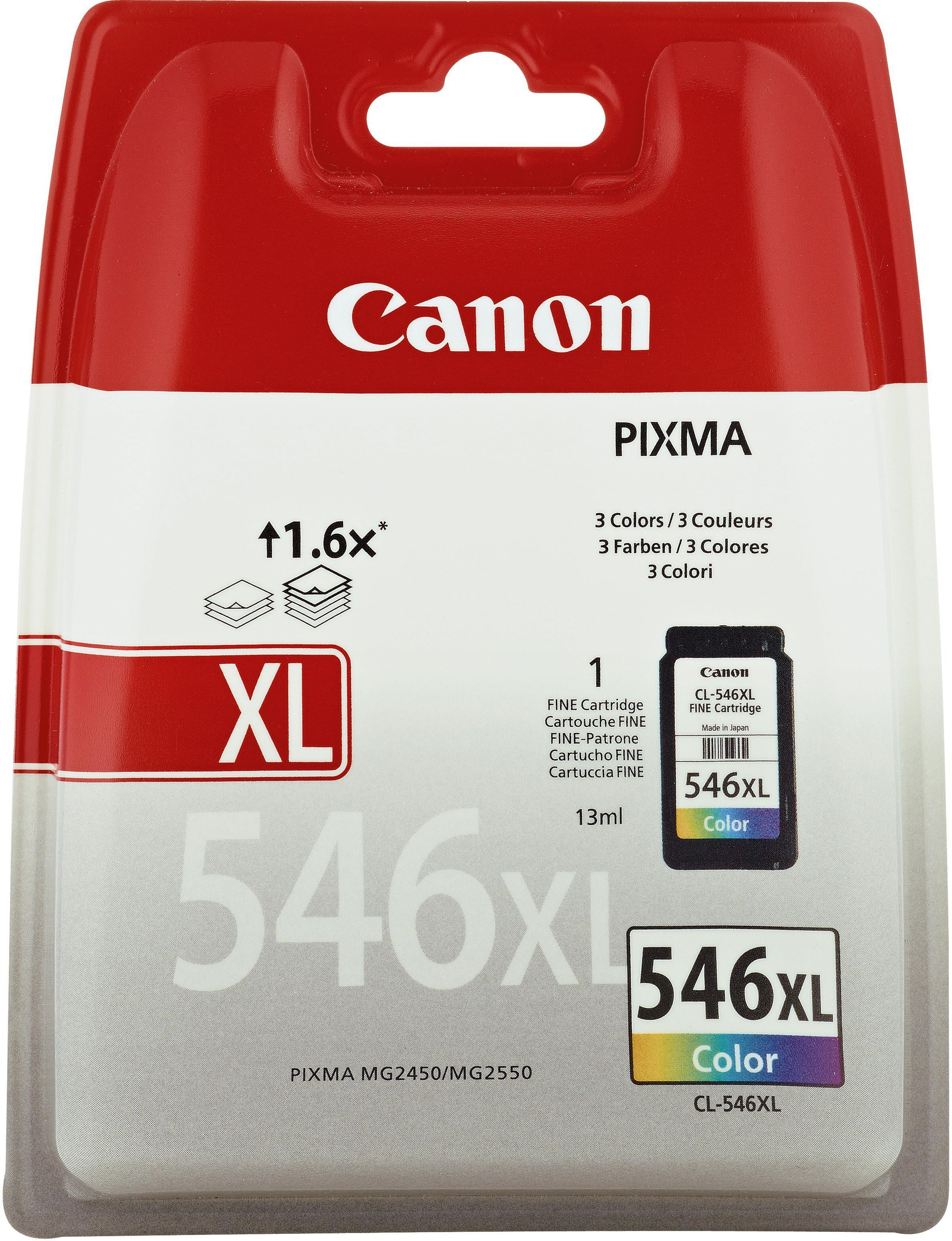 CL-546XL Cartucho de tinta color Canon (15ml.)